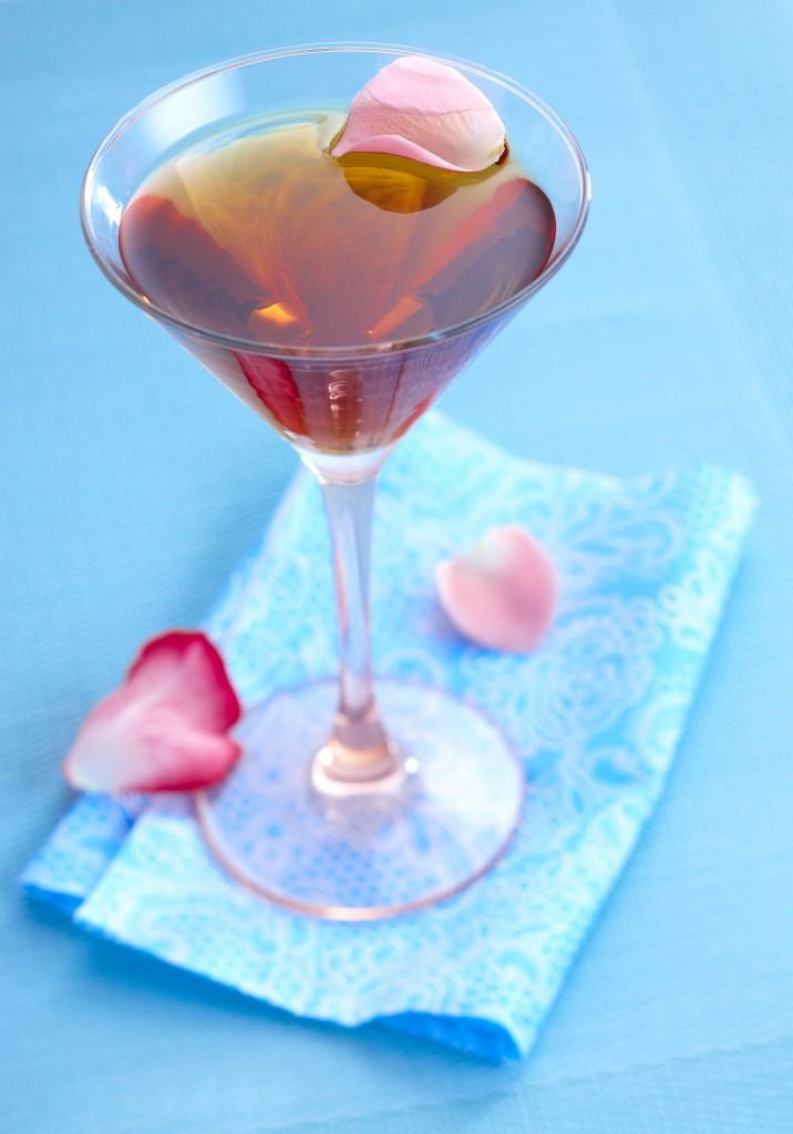 cocktail elegance rose pommeau