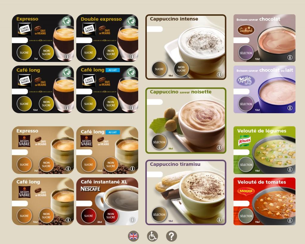 distributeur cappuccino soupe