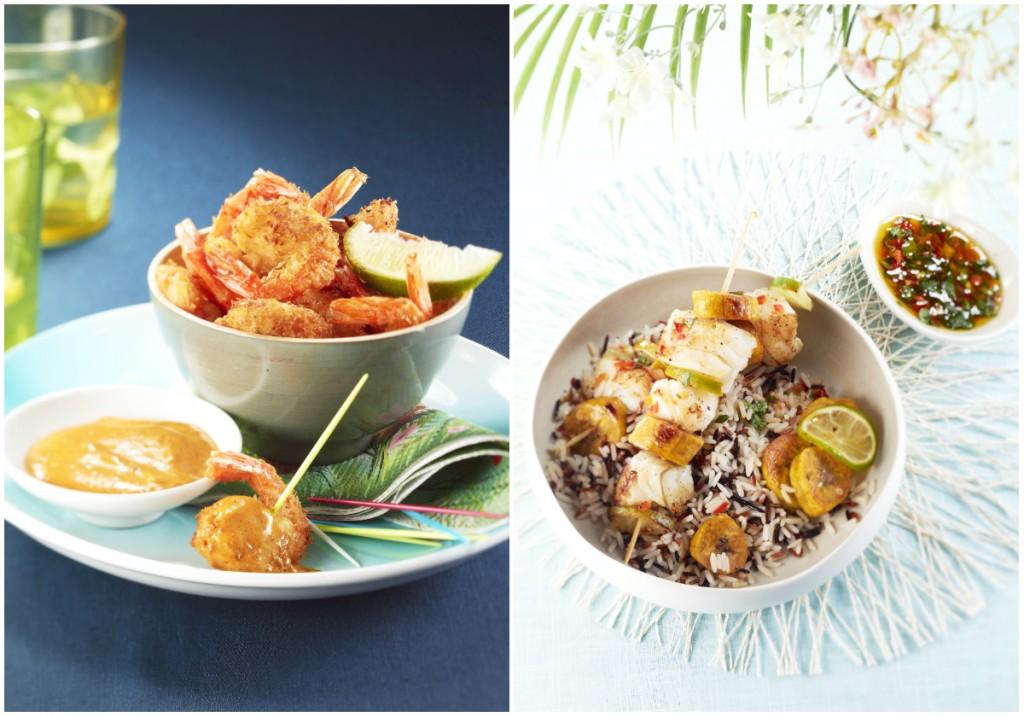 recettes exotiques crevettes poisson