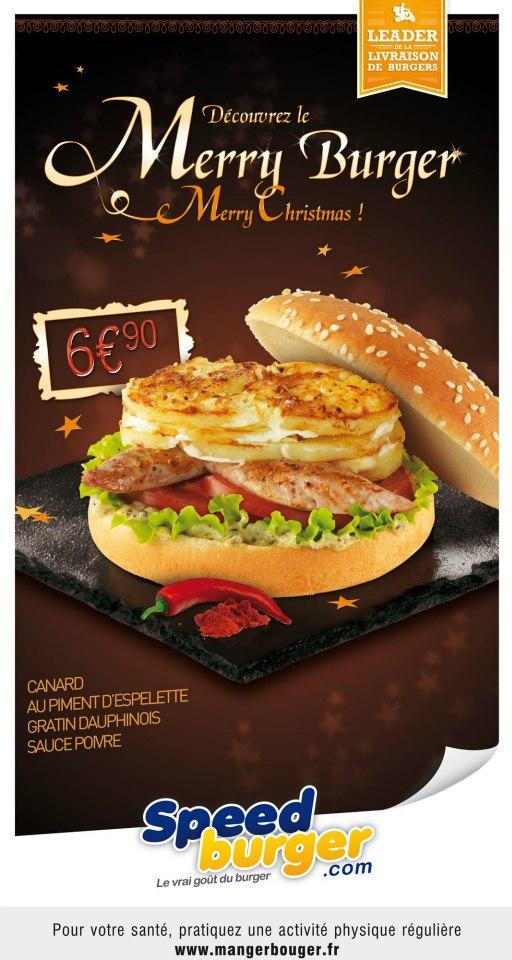 speed burger dauphinois noel