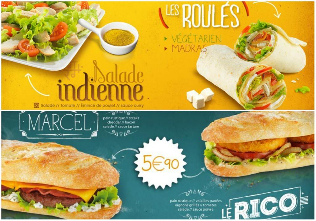 speed burger salade wrap frenchie